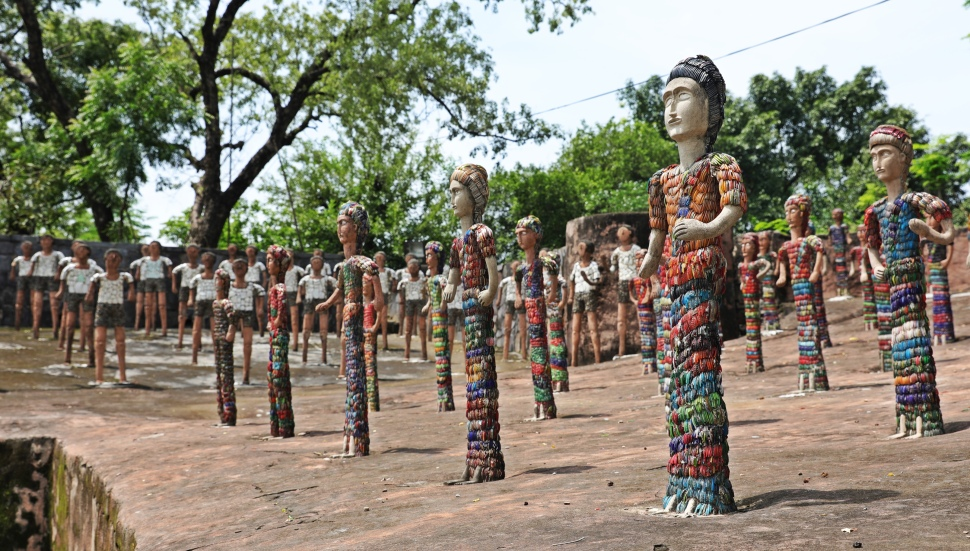 People sculptures, Rock Garden, Chandigarh