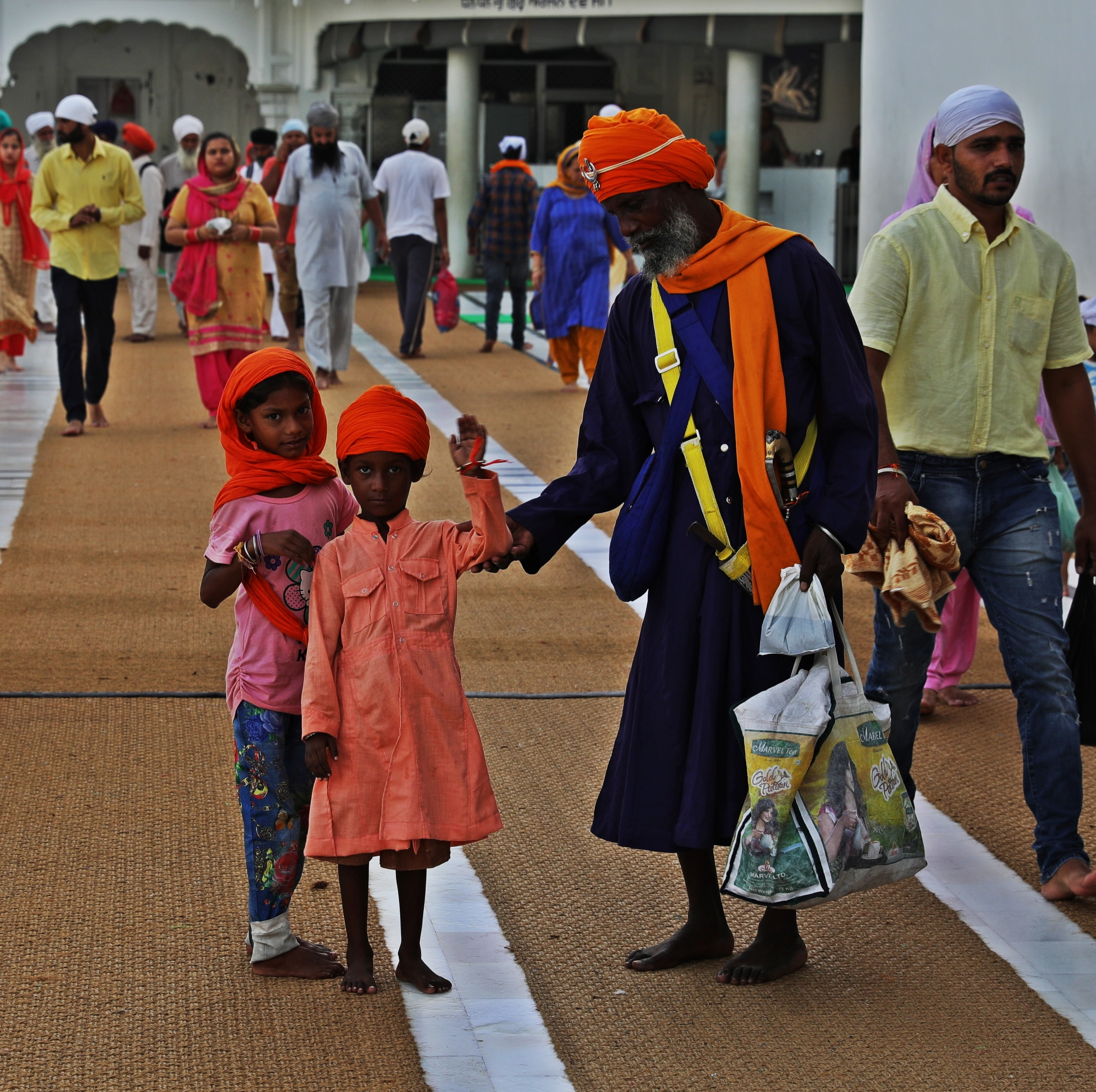 Family at the Golden Temple, Amritsar