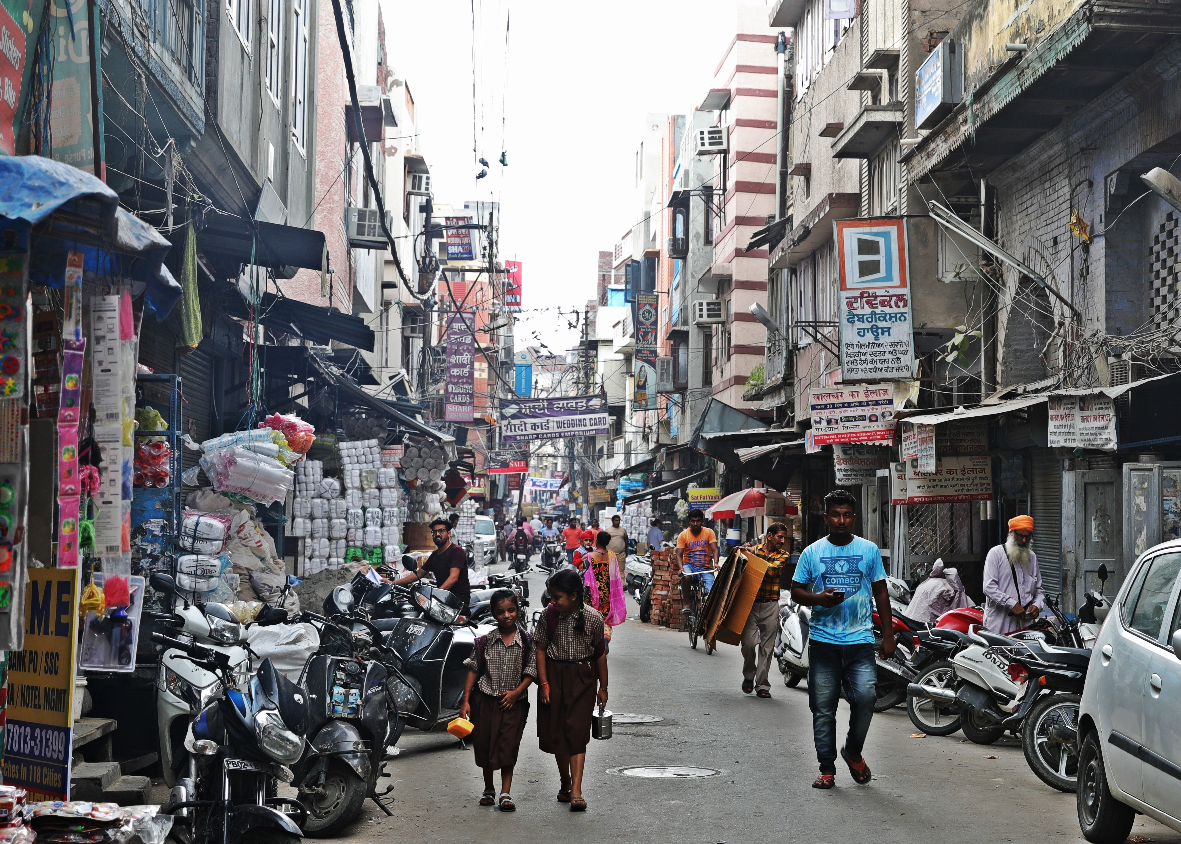 Typical street in Amritsar