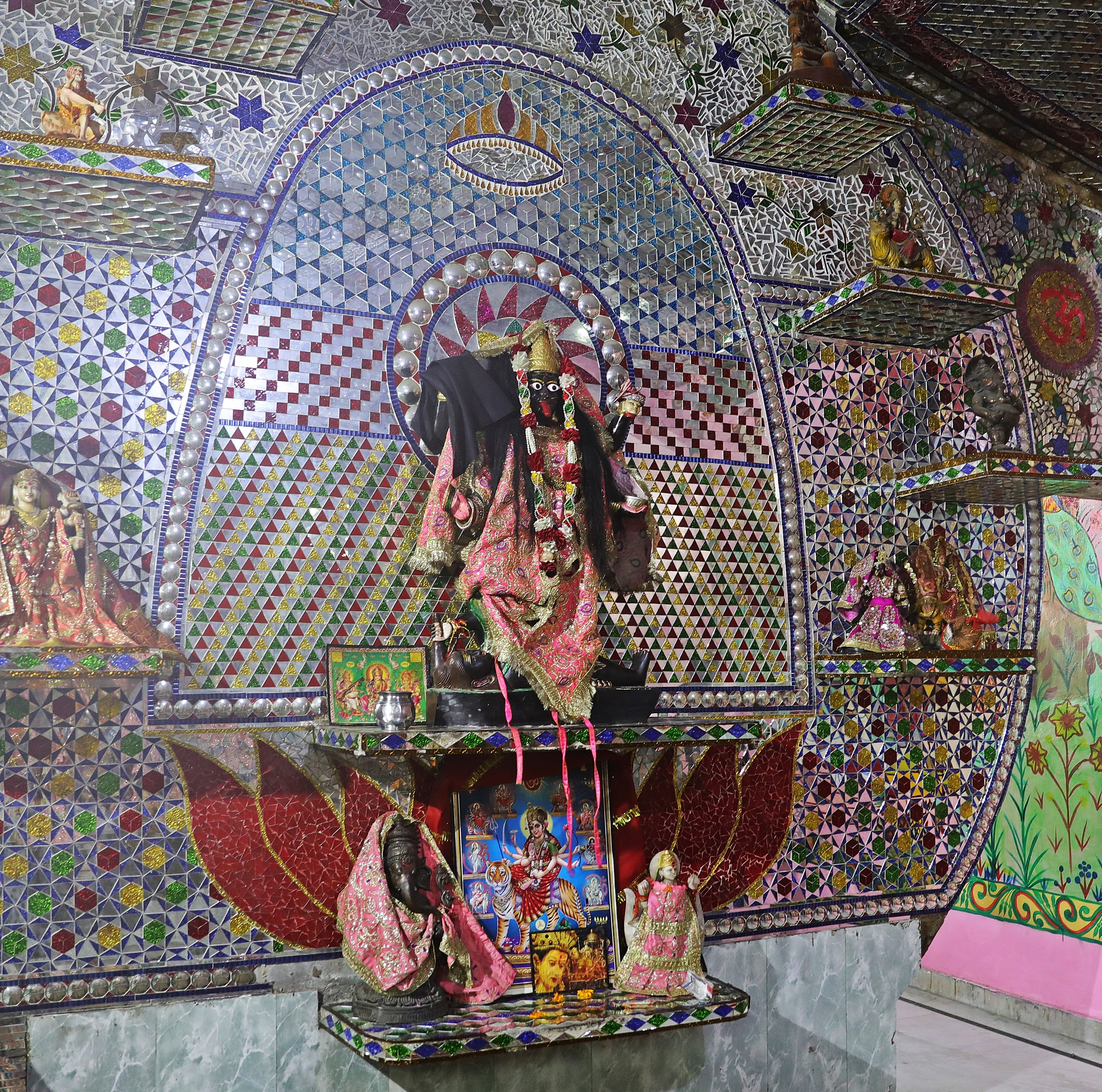 Mirrored room in the Mata Lal Devi Temple, Amritsar