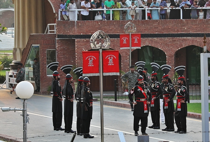 Pakistani Border Guards, Wagah Border Closing Ceremony