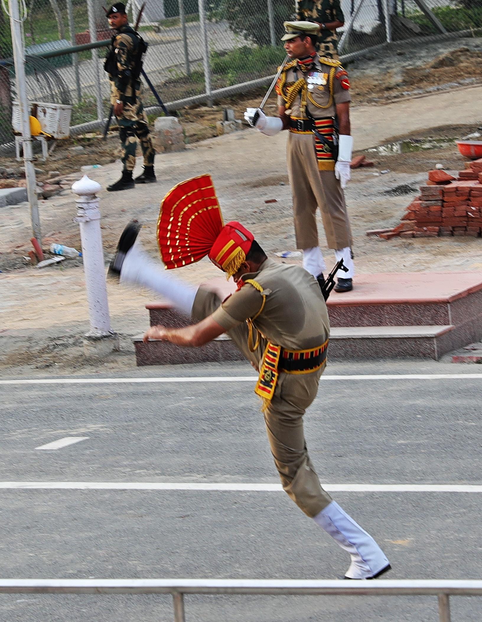 High goose-step, Wagah Border Ceremony