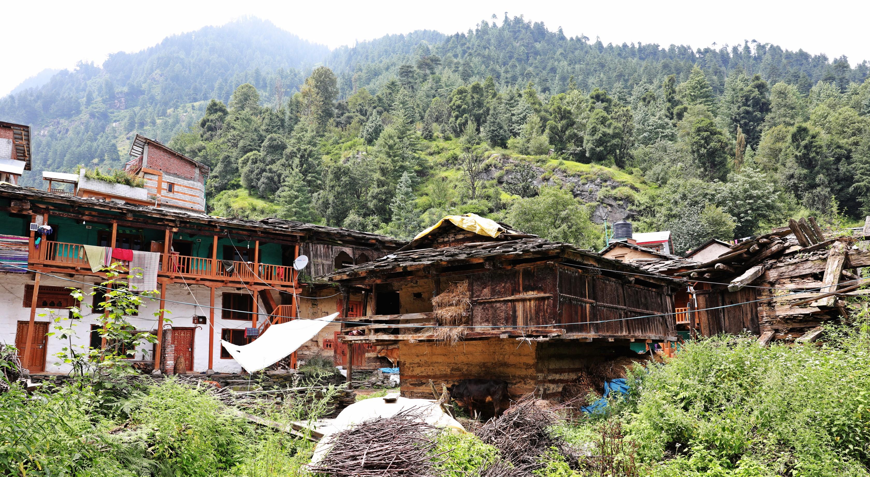 Old homes, Old Manali, Himachal Pradesh
