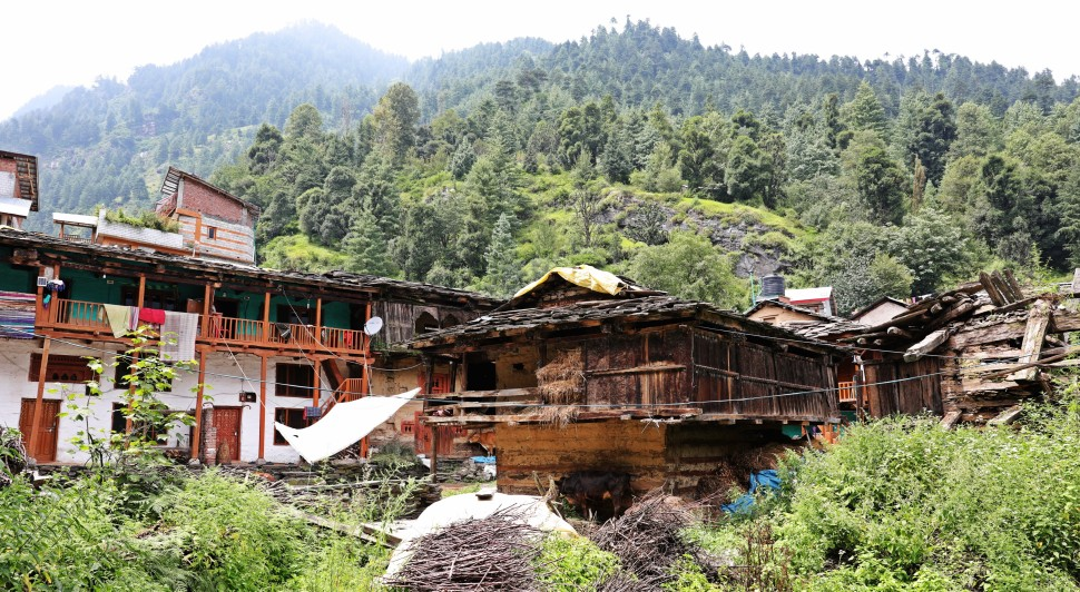Old homes, Old Manali, Himachal Pradesh