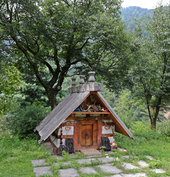 Hindu shrine, Manali, Himachal Pradesh