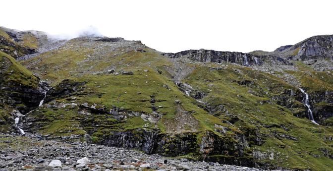 Waterfalls on the Hampta Pass Trek, Himachal Pradesh