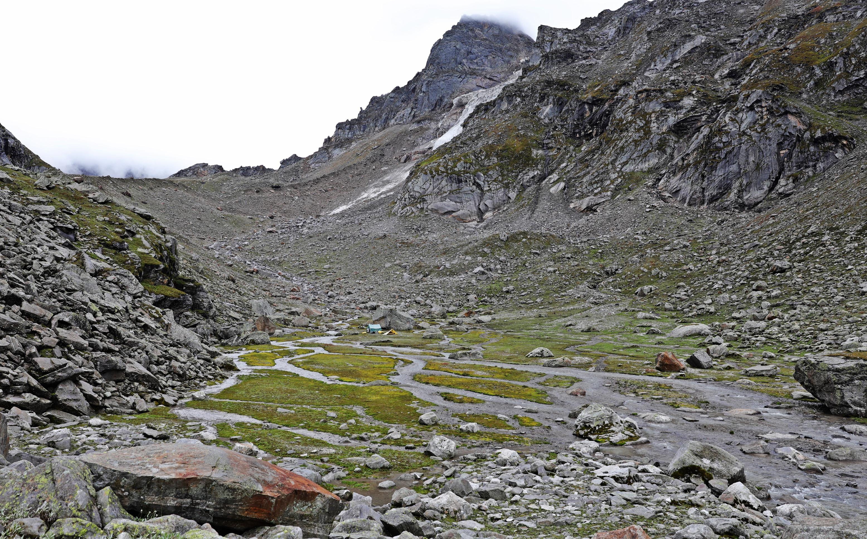 2nd campsite, Hampta Pass Trek, Himachal Pradesh
