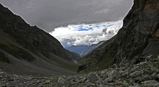 Storm clouds coming in on the Hampta Pass Trek