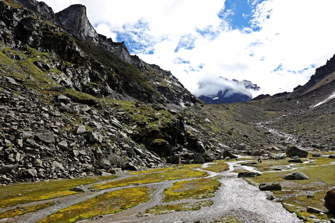 Early morning at the 2nd campsite, Hampta Pass Trek, Himachal Pradesh