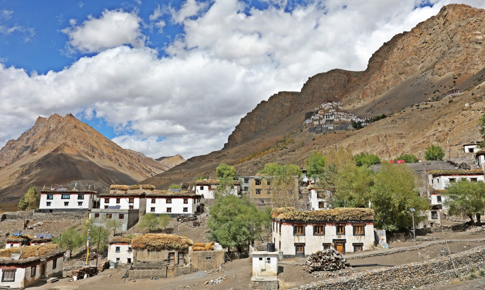 Key Gompa and Key village, Himachal Pradesh