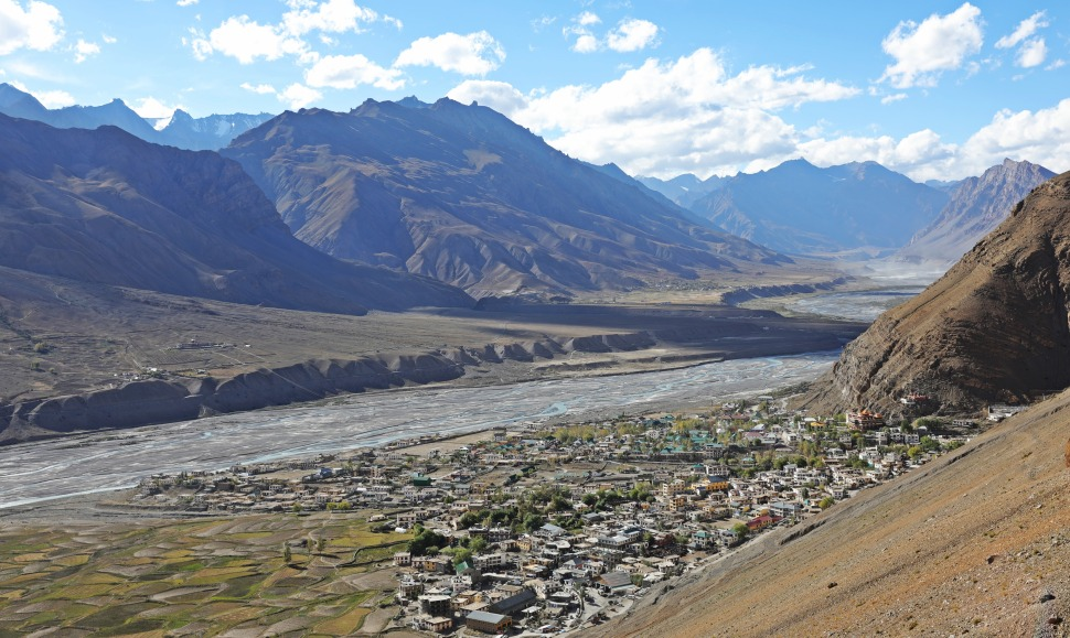 Spiti Valley and the town of Kaza, Himachal Pradesh