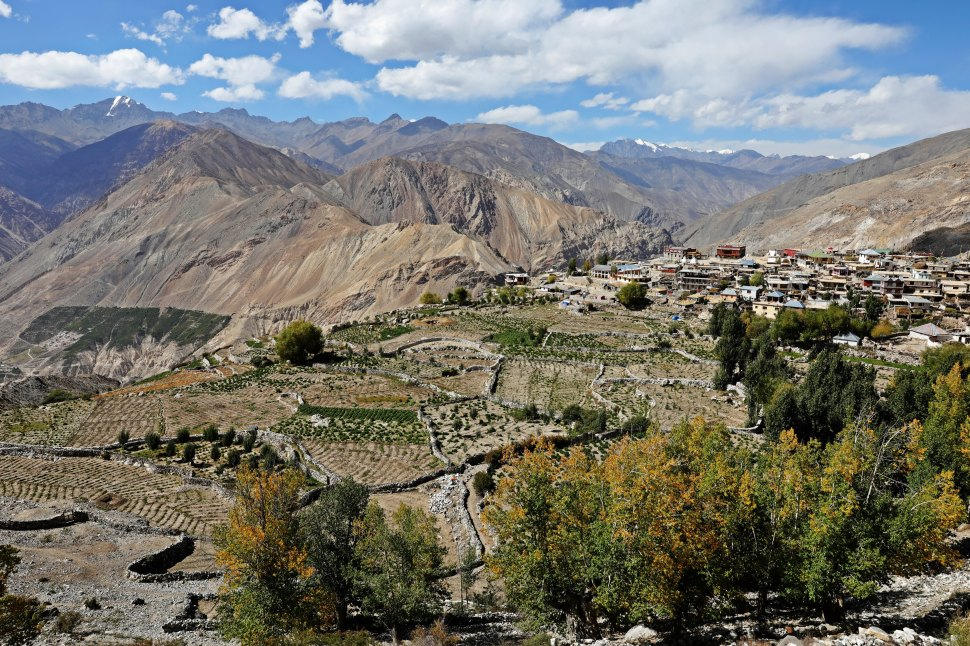 View of Spiti Valley and Nako