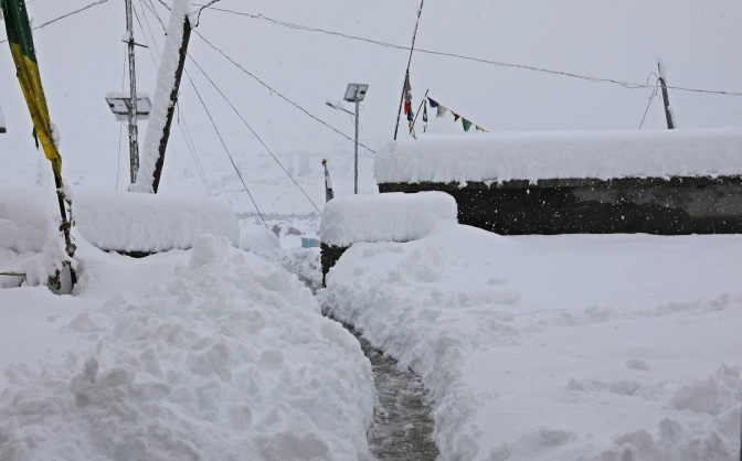 Day 3 of the blizzard in Khoksar