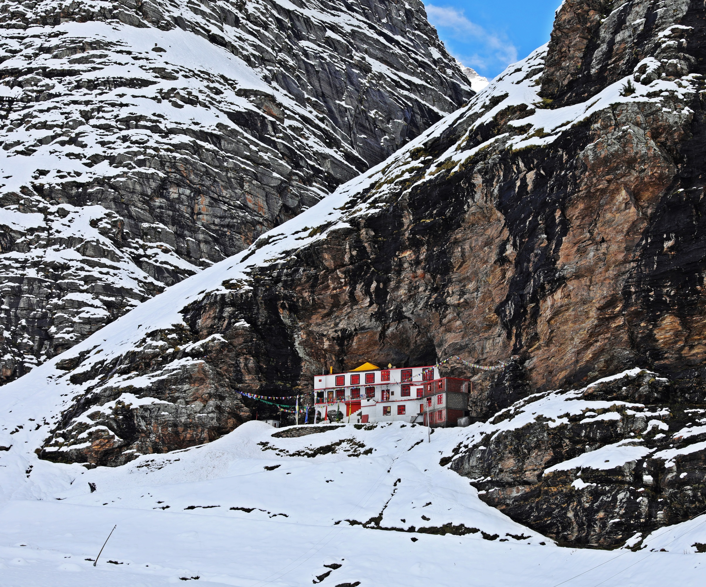 Khoksar Gompa after the blizzard