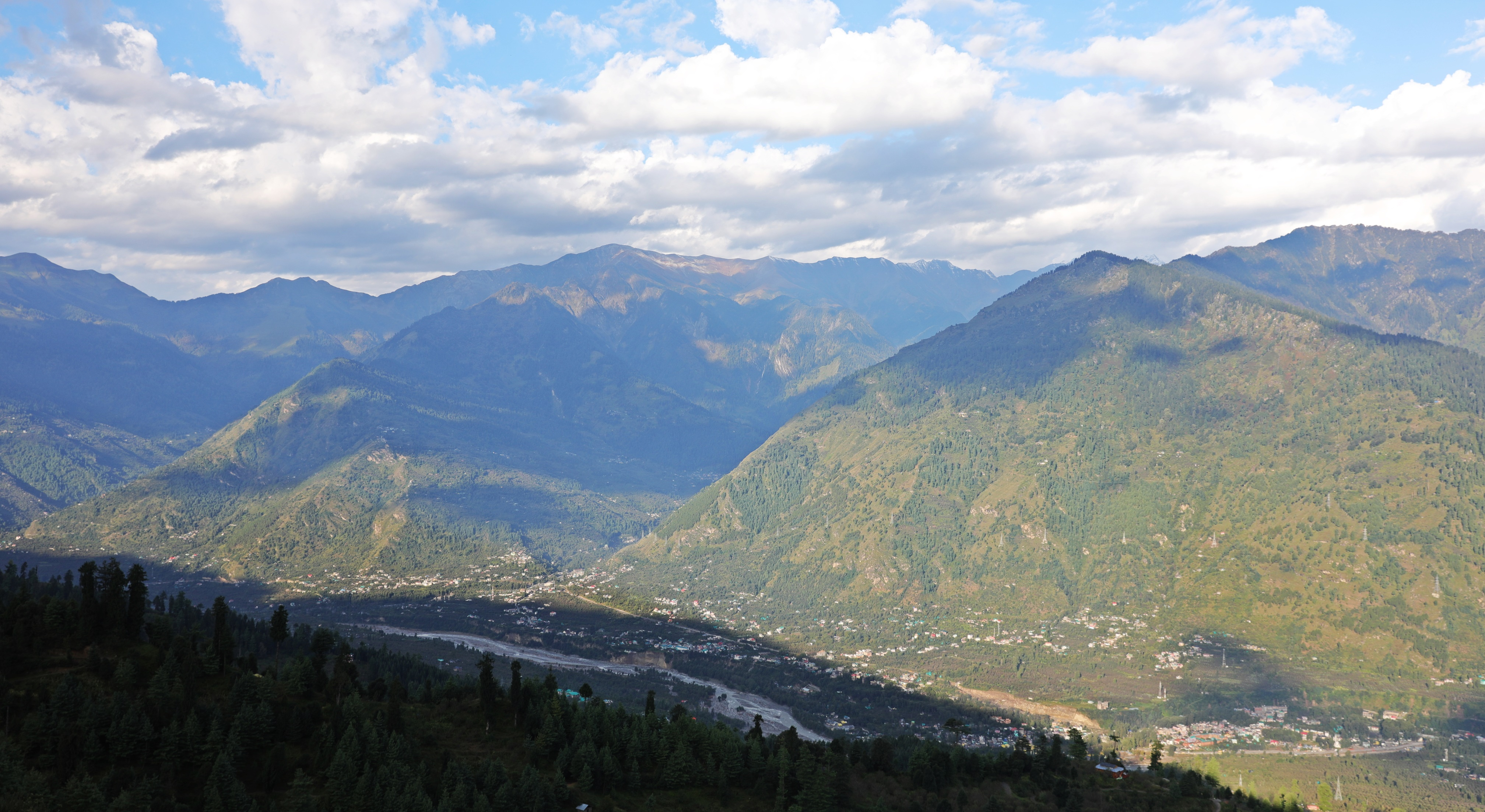 Kullu Valley as seen from Rumsu, Himachal Pradesh