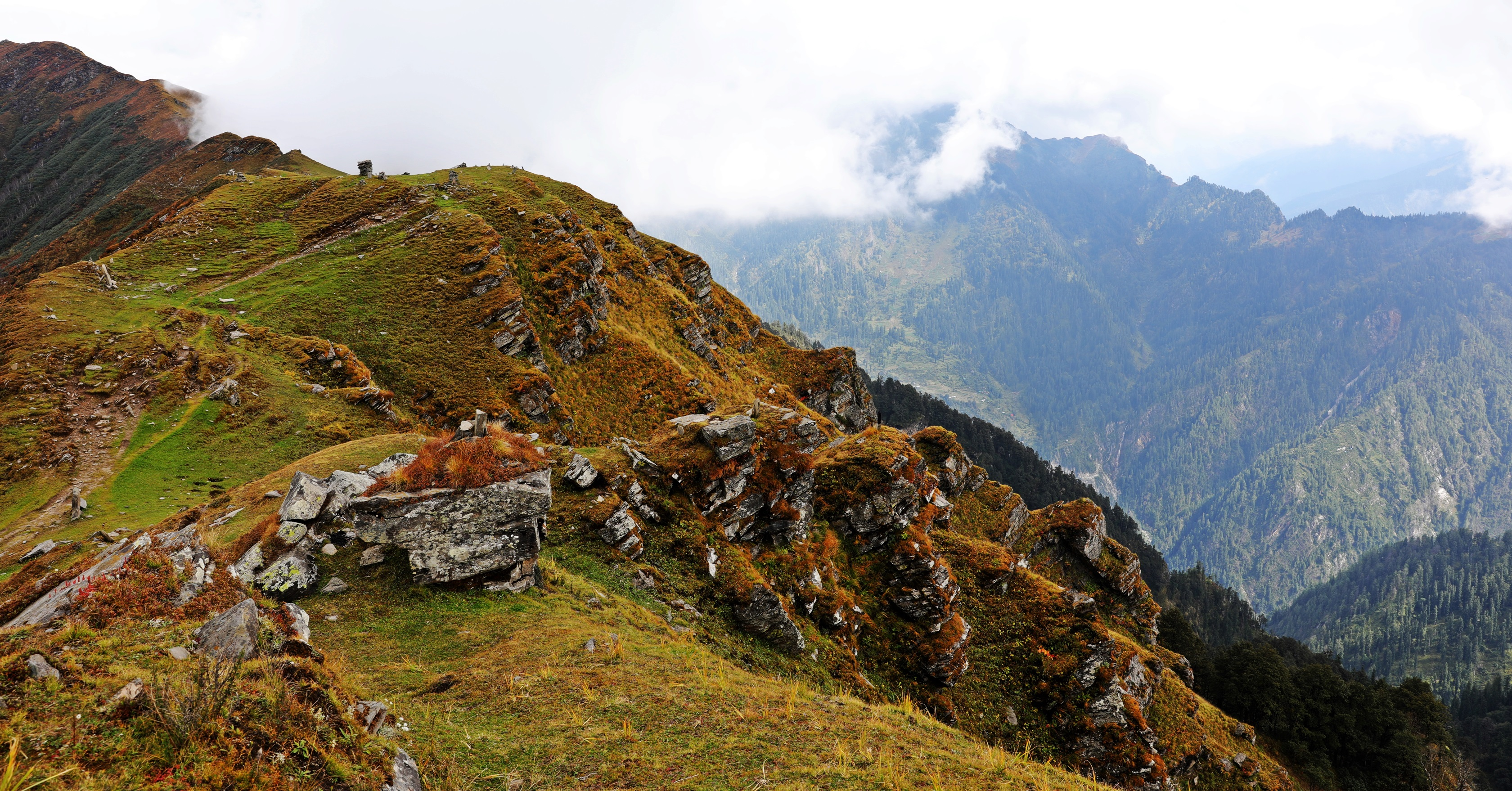 Mountain Ridge on the Naggar to Malana Trek