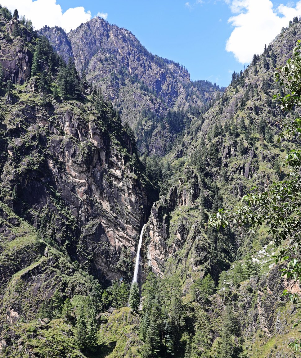 Waterfall view from Malana village