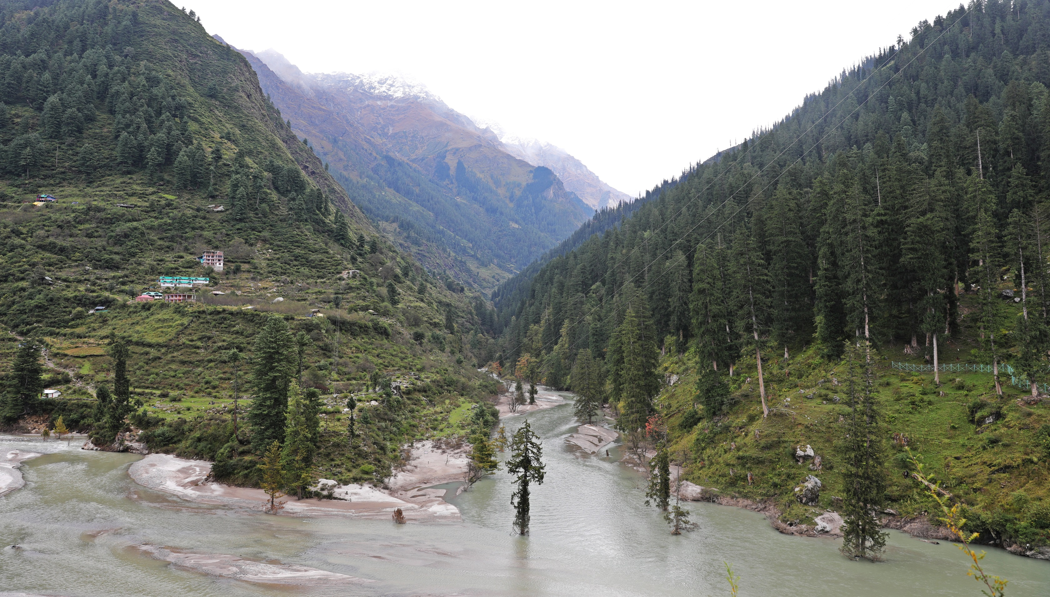 Confluence of Tosh and Parvati Rivers