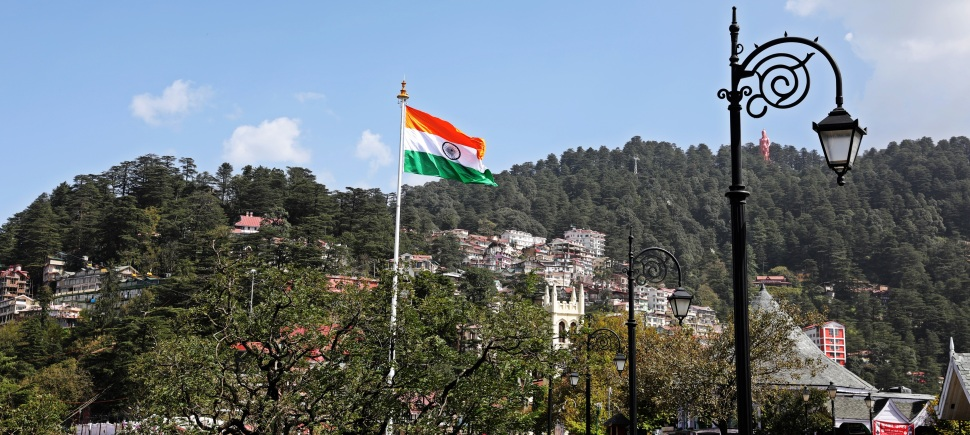 Indian flag, Shimla