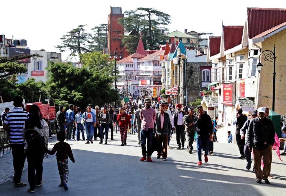 Downtown Shimla, Himachal Pradesh