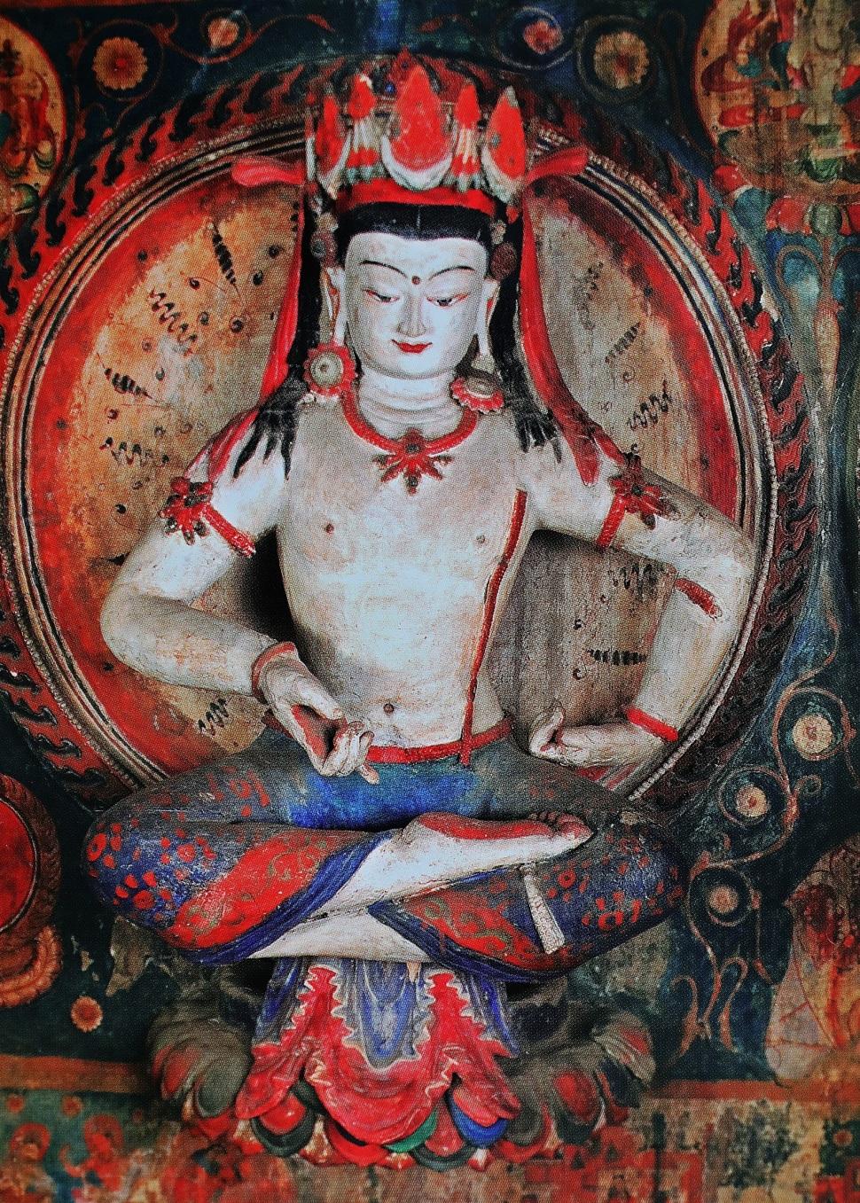 Ancient mud Bodhisattva, Tabo Gompa