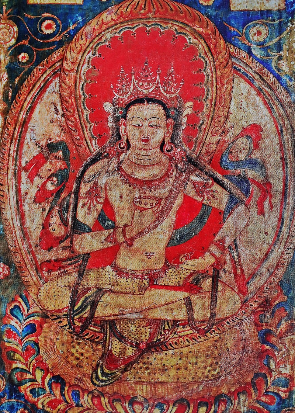 Ancient wall frescoes, Tabo Gompa