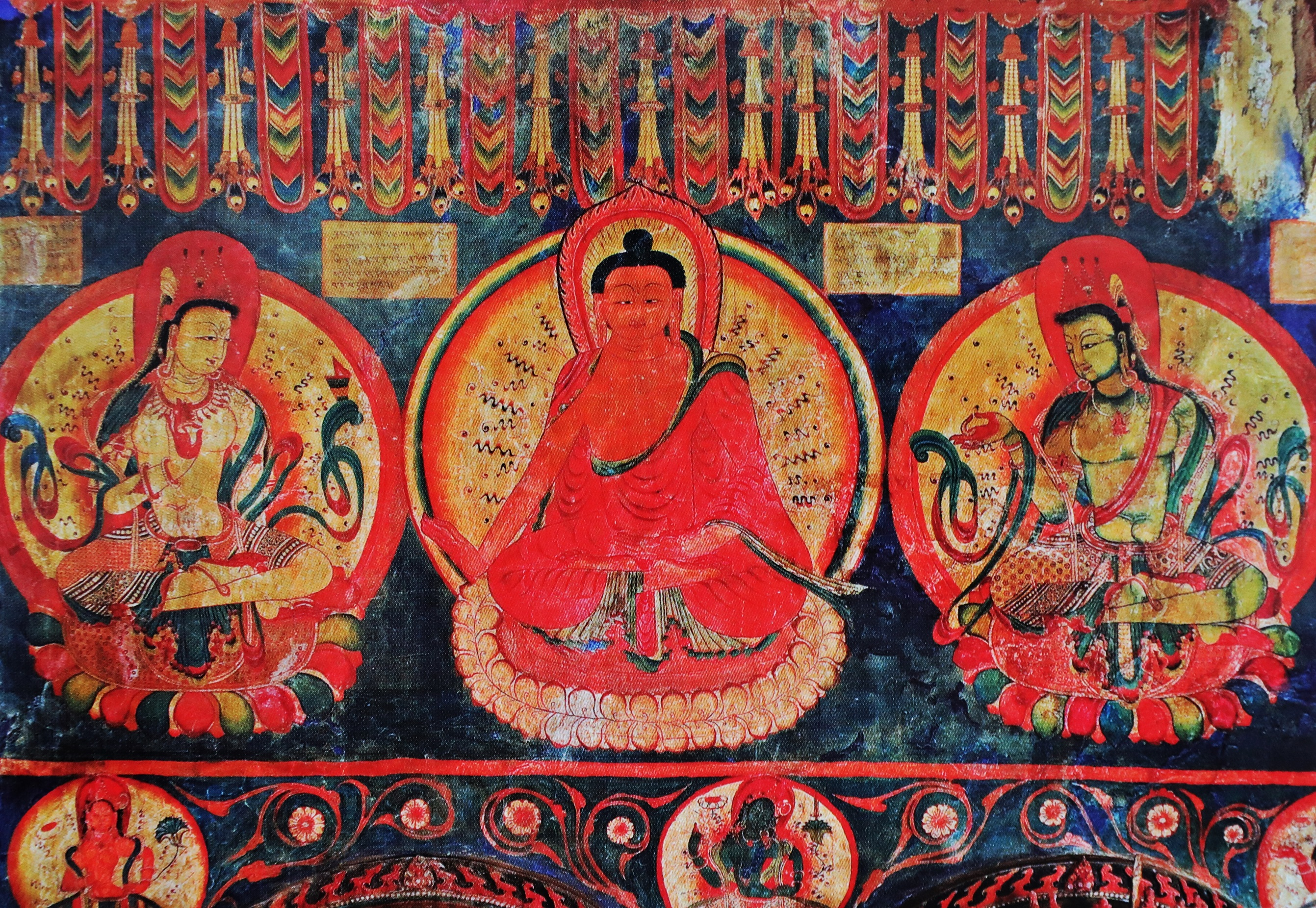 Ancient frescoes, Tabo Gompa
