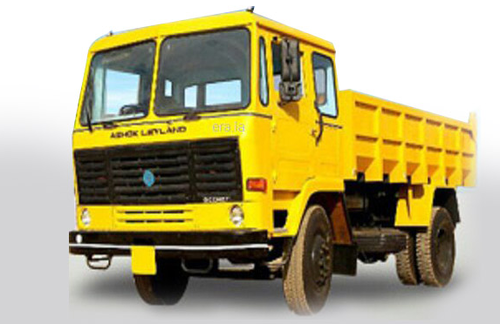 Dump truck similar to our final ride