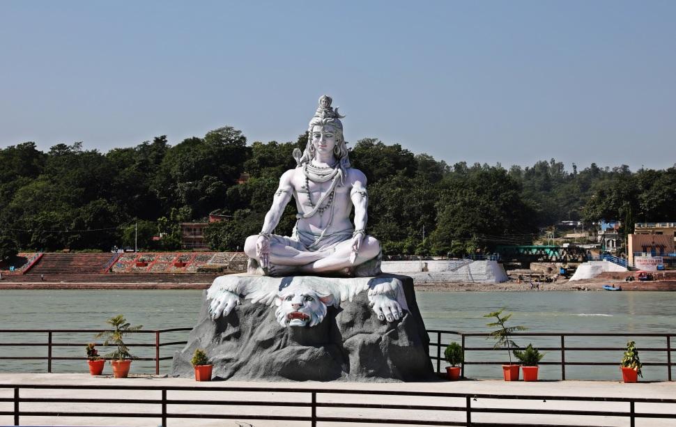Shiva with Ganga in his hair