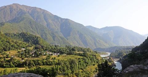 River valley on the drive to Kuari Pass Trek1