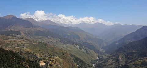 Nanda Devi Range seen on the drive to Camp 1