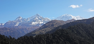 View of Nanda Devi Range from Ramni Pass