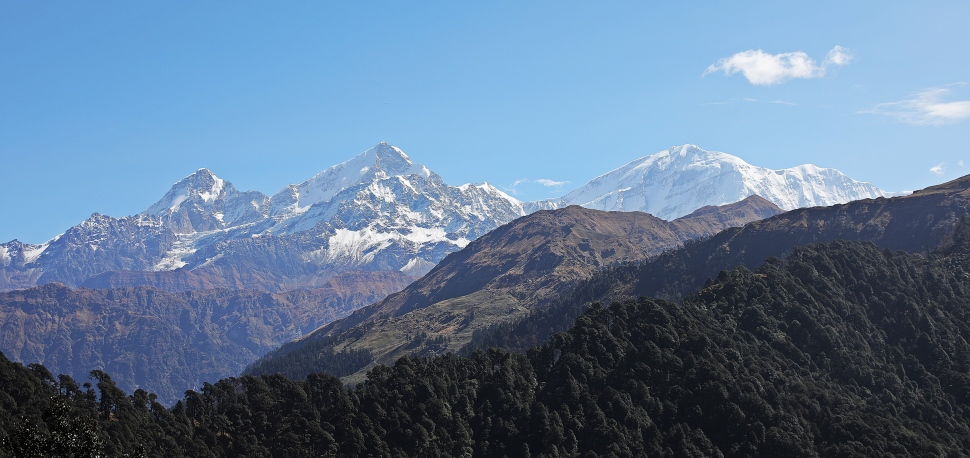 View of Nanda Devi Range
