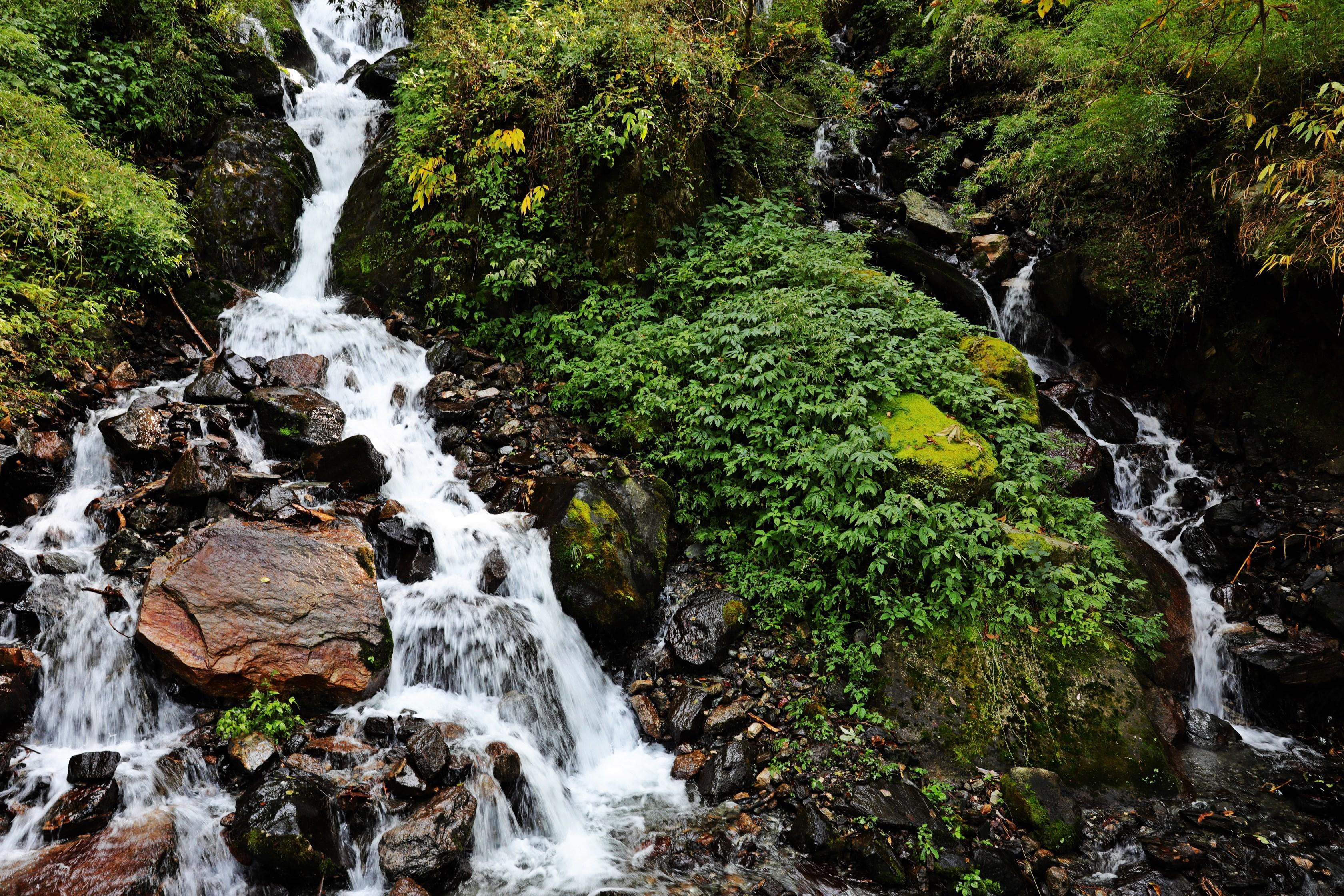 Waterfall on Kuari Pass Trek