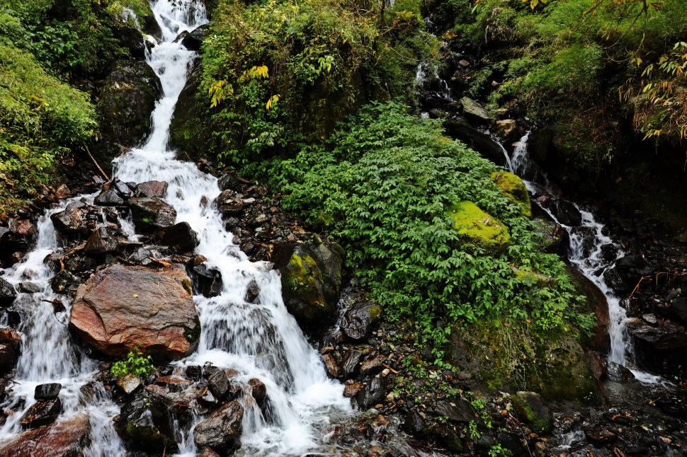 Waterfall on Kuari Pass Trek