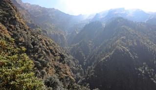 Rugged valley on Kuari Pass Trek