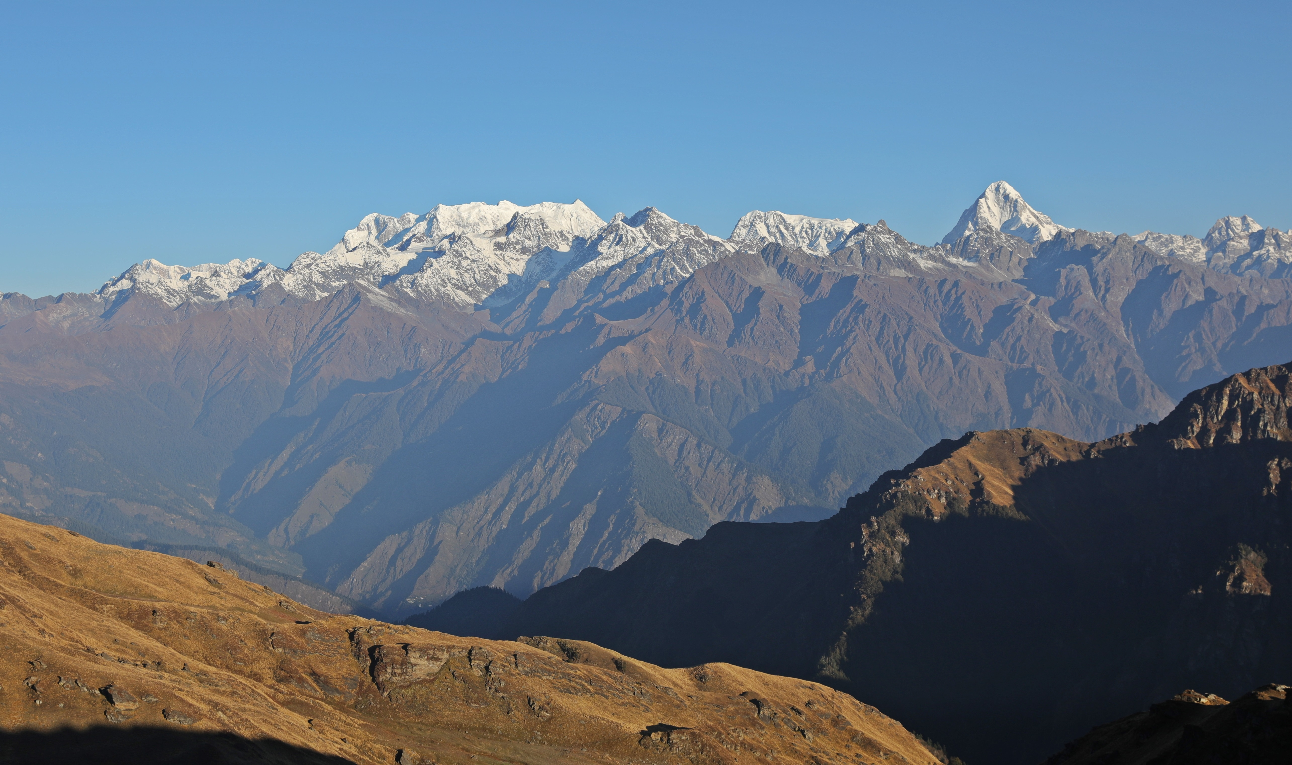 Mt. Neelkanth and the Western Garhwal Range from Kuari Pass