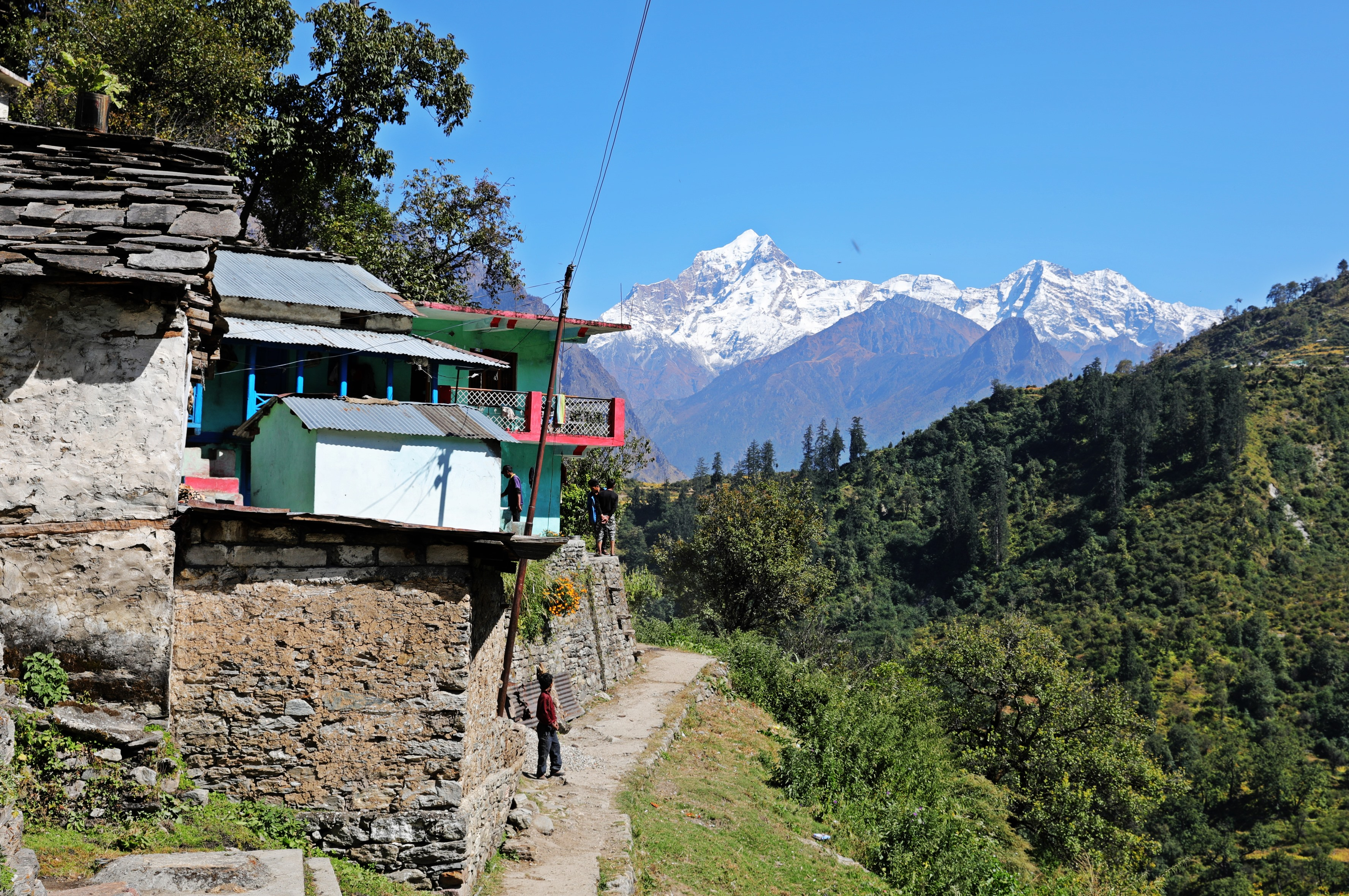 Tapovan with the Nanda Devi Range behind