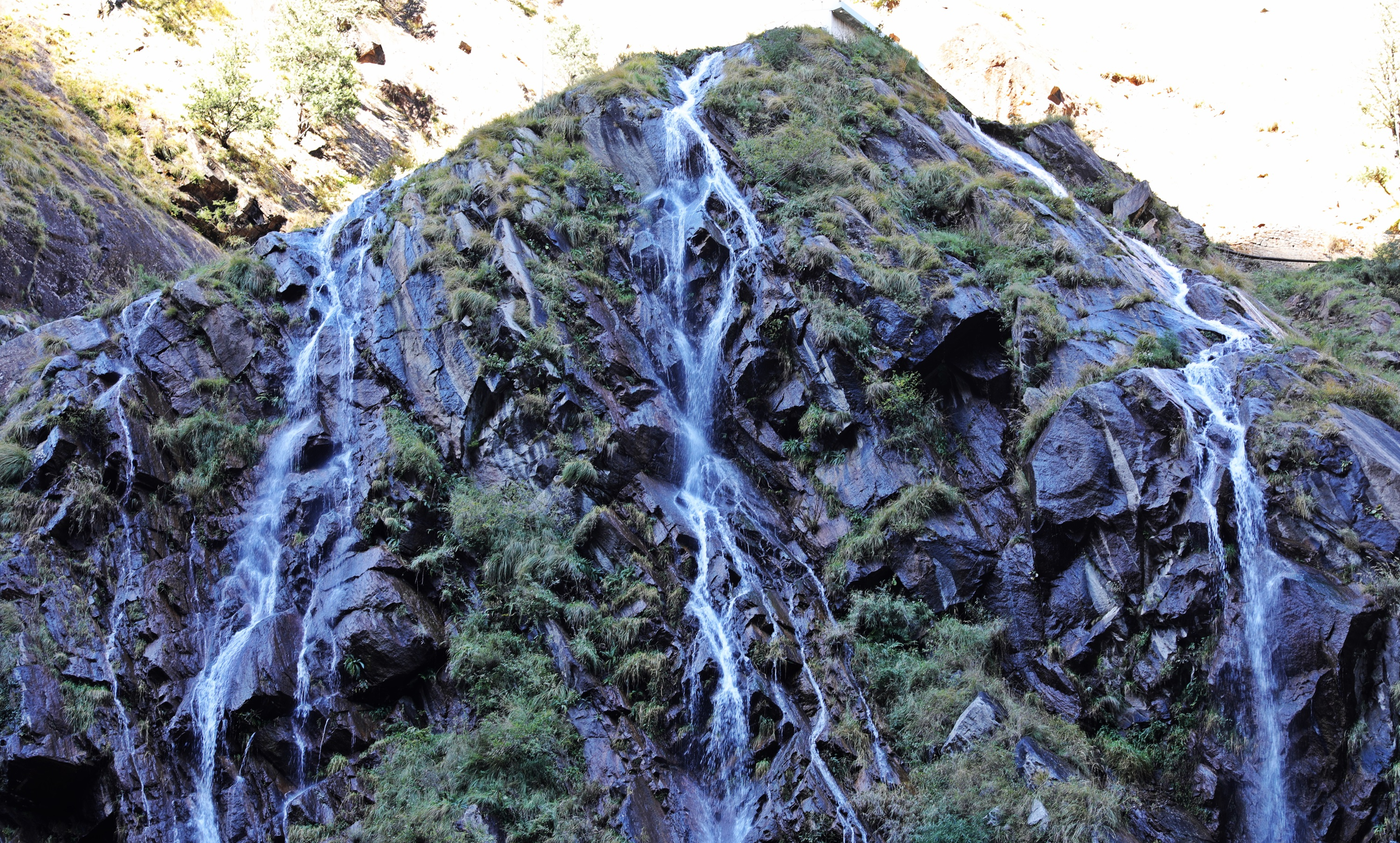 Waterfall on drive to Gangotri