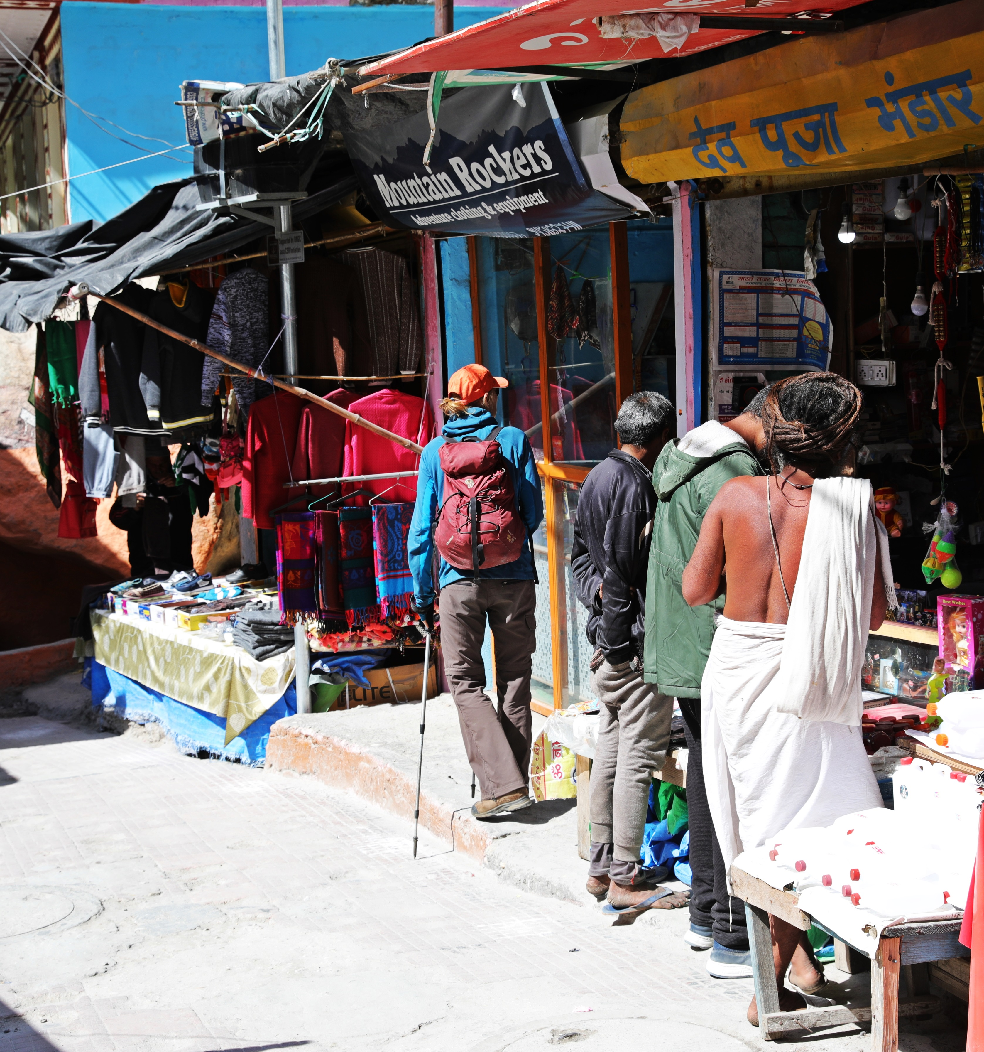 Shopping with a Sadhu in Gangotri