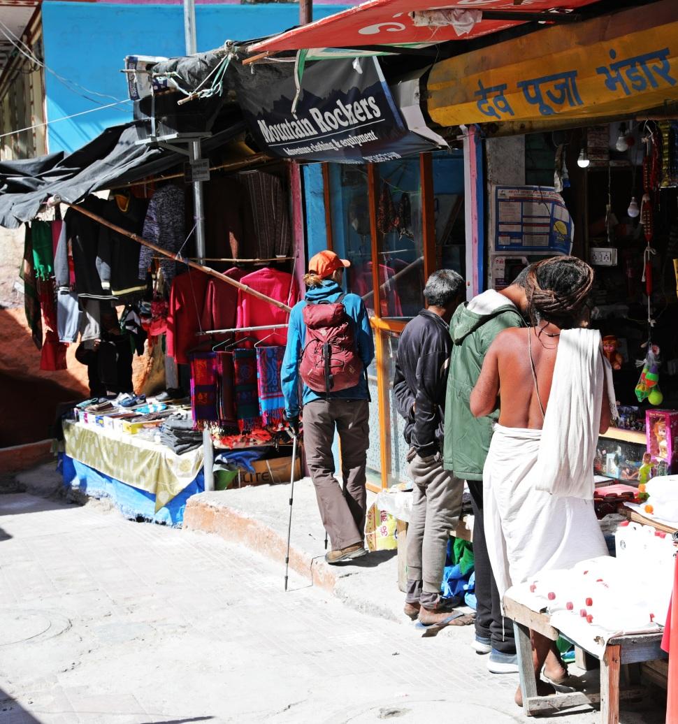 Shopping with a Sadhu in Gangotri