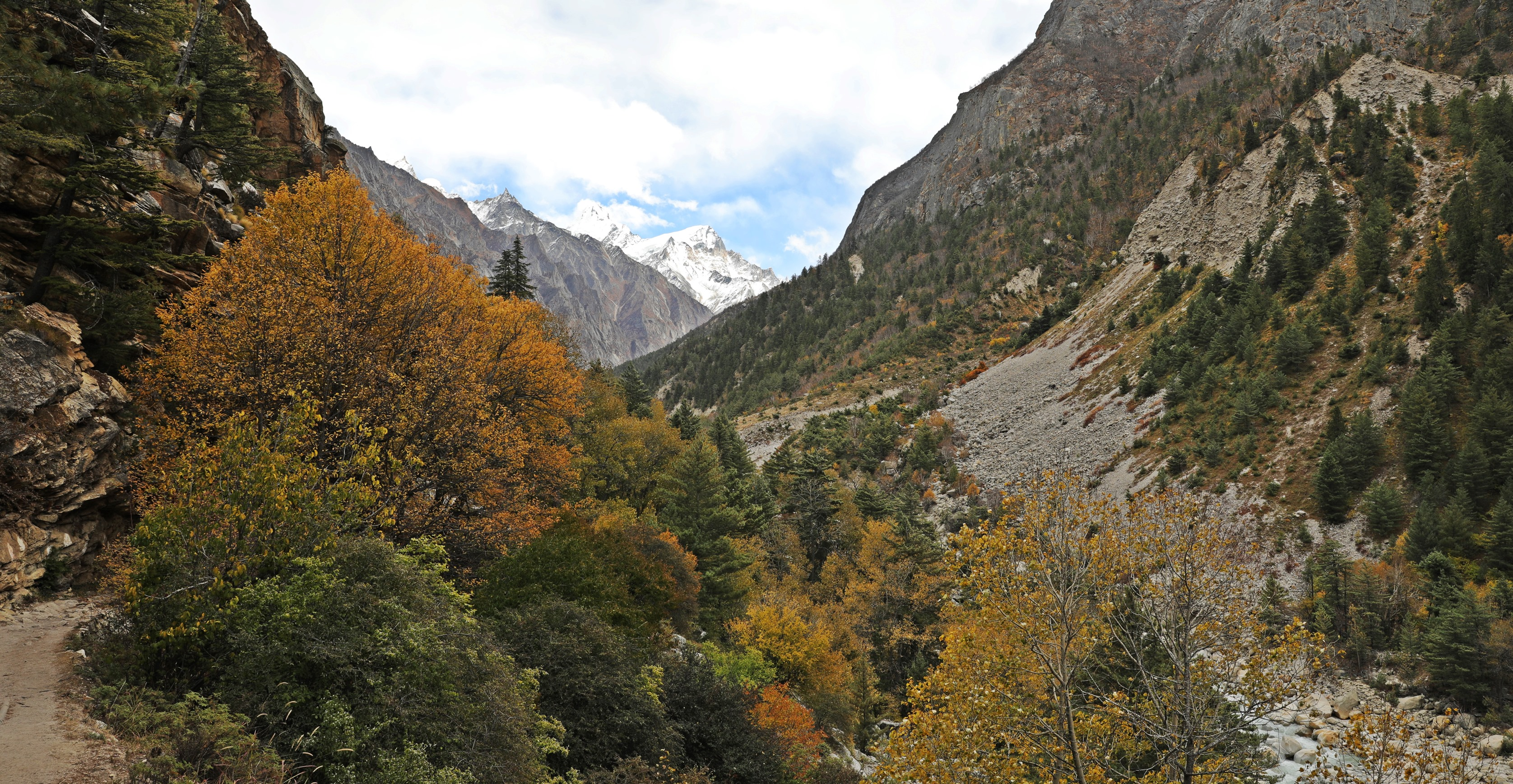 Fall colours in Bhagirathi Valley with Gangotri 1