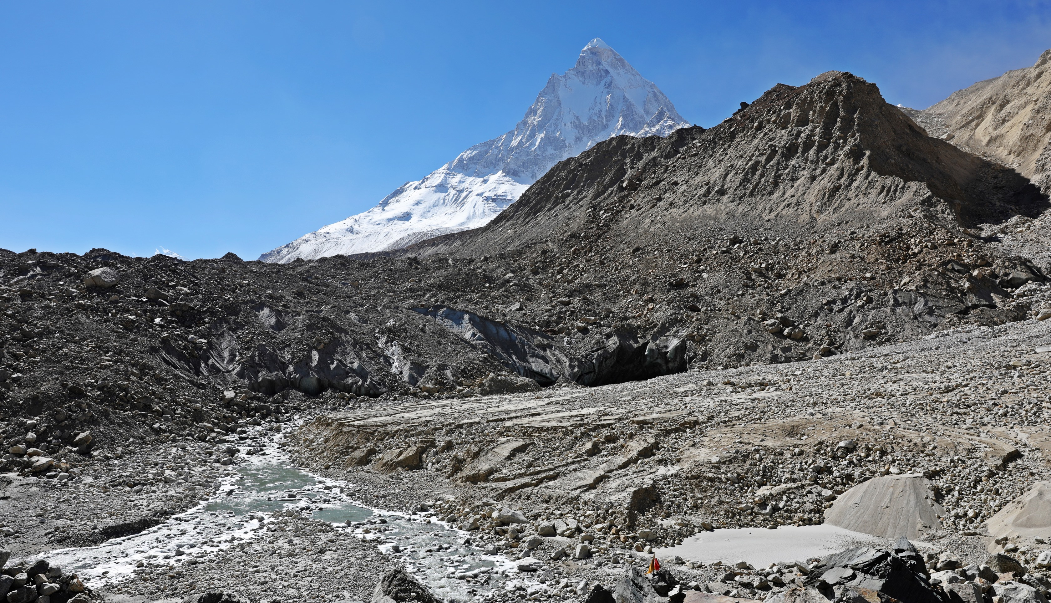 Gaumukh Glacier with Mt. Shivling