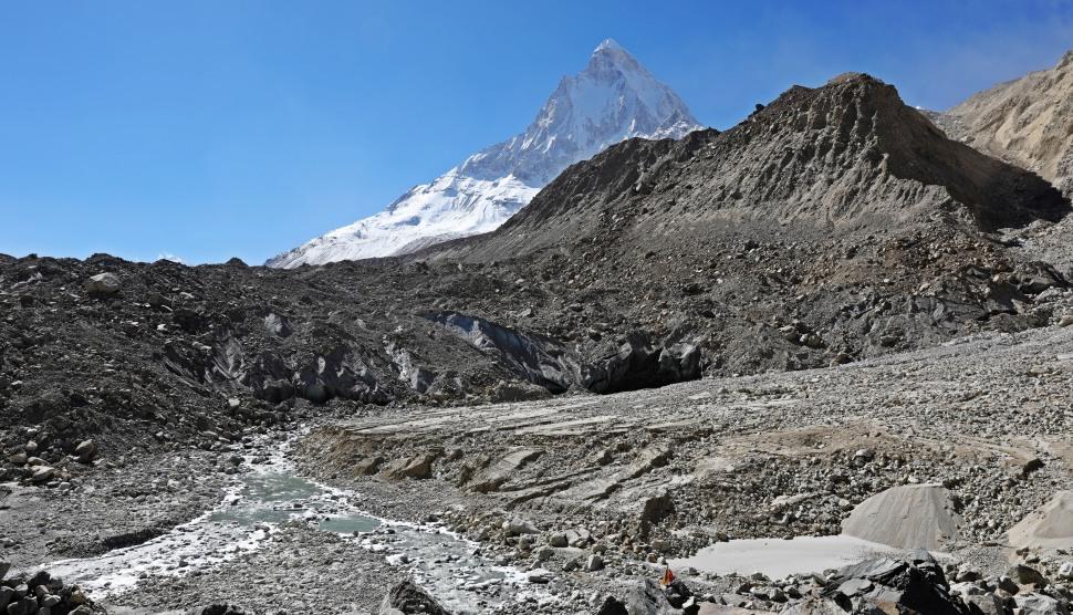Gaumukh Glacier with Mt. Shivling