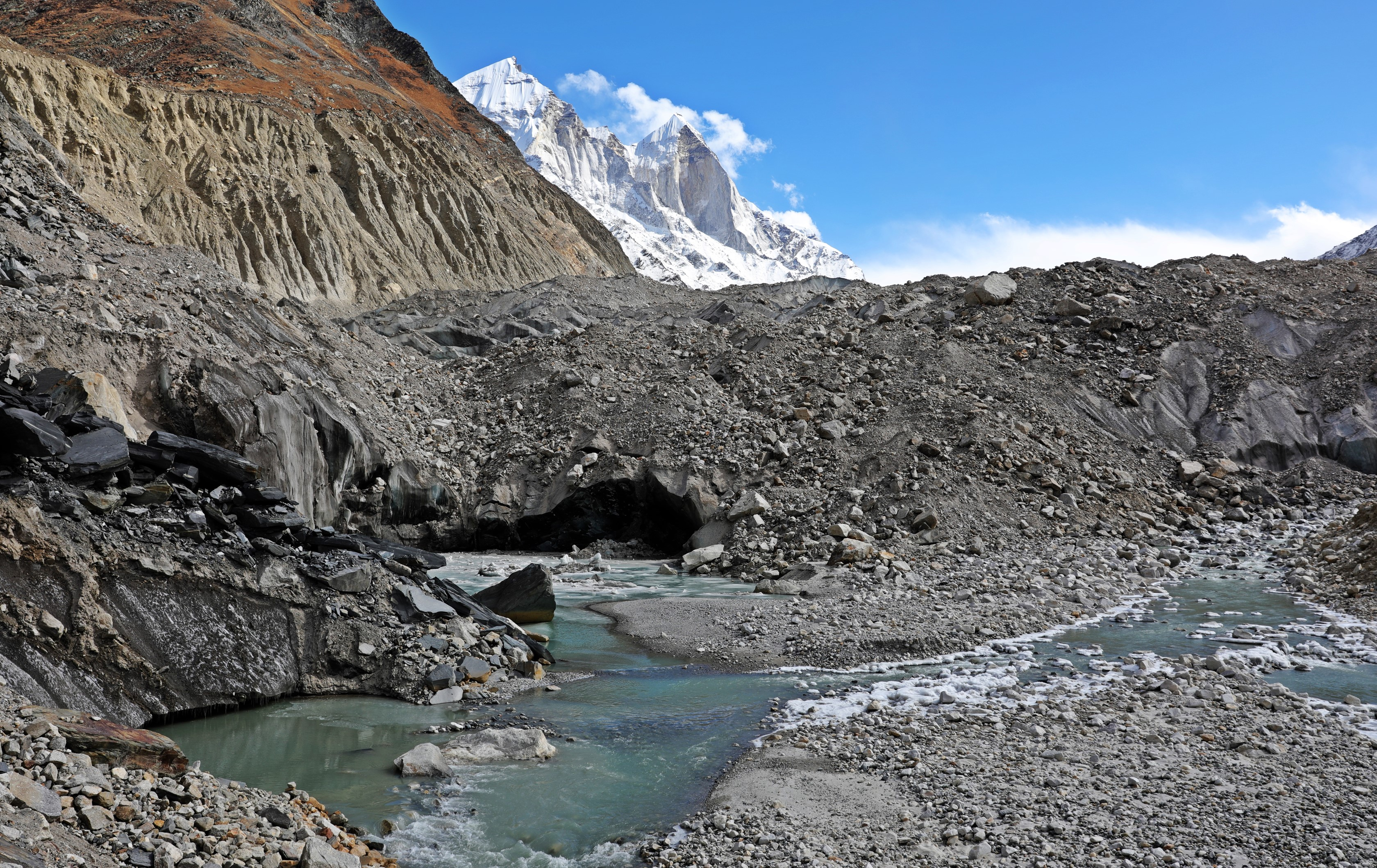 Gaumukh Glacier, Source of Ganges with Bhagirathi