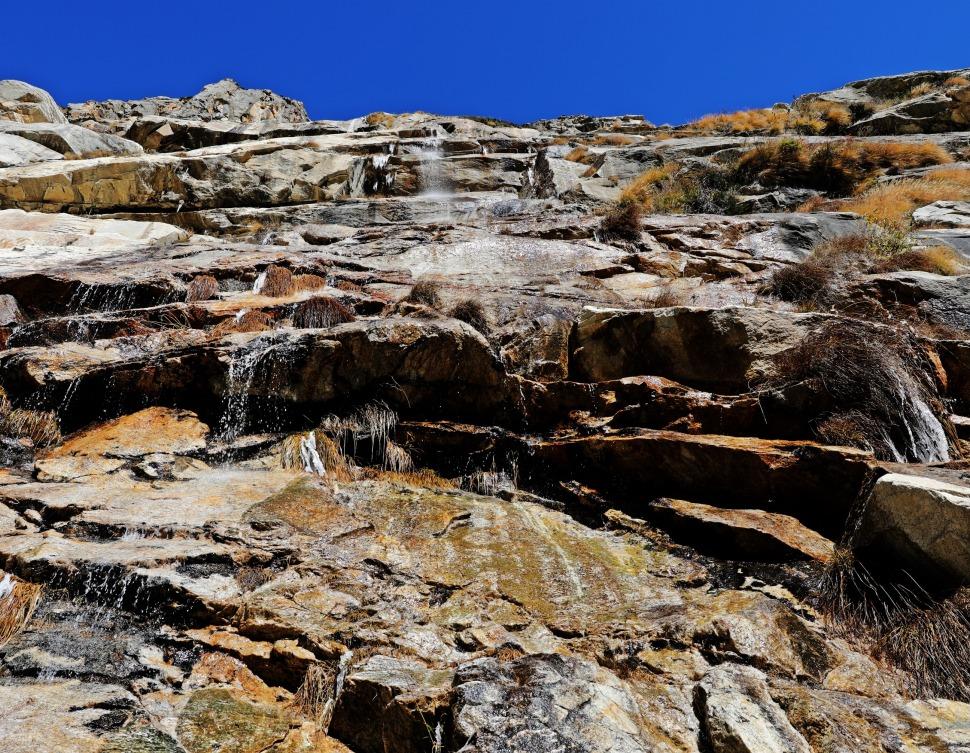Waterfall along the trek