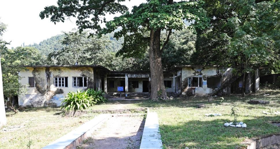 The Beatles' residence in the ashram