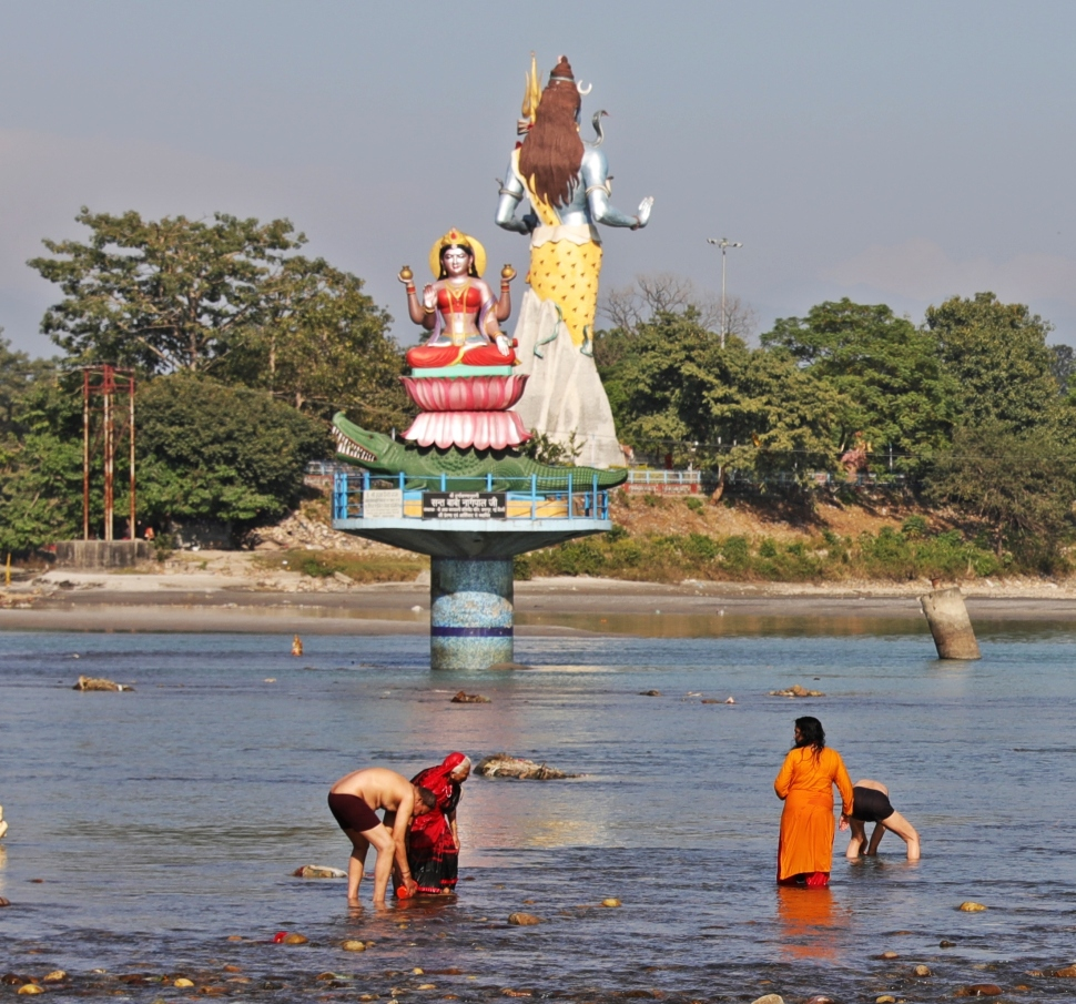 Ganga and Shiva on the Ganges, Haridwar