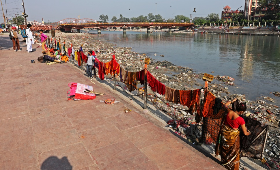 Laundry day along the Ganges in Haridwar