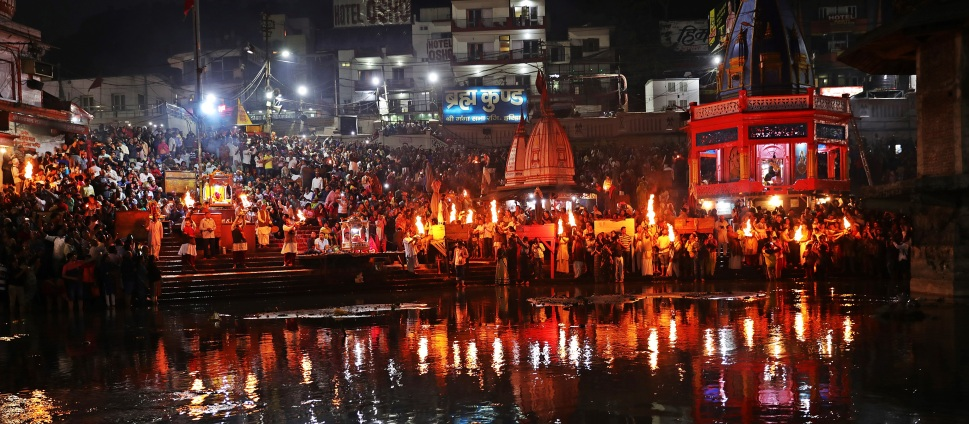The lights of Ganga Aarti, Haridwar
